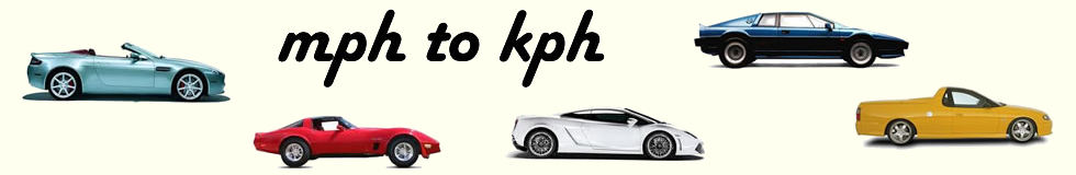 MPH to KPH Sports Cars Header